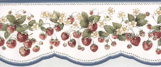 Strawberry Wallpaper Border