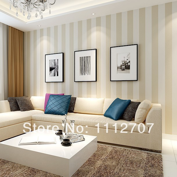 Download striped living room wallpaper gallery for Striped wallpaper living room ideas