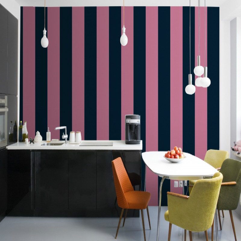 Striped Wallpaper For Kitchen