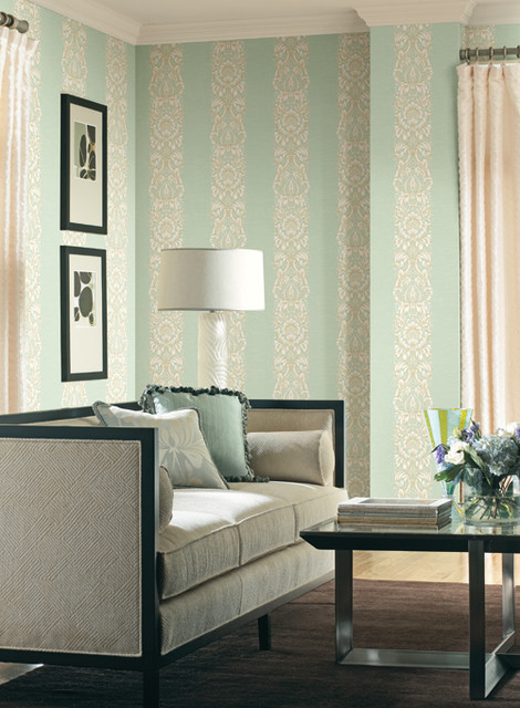 Striped Wallpaper For Living Rooms