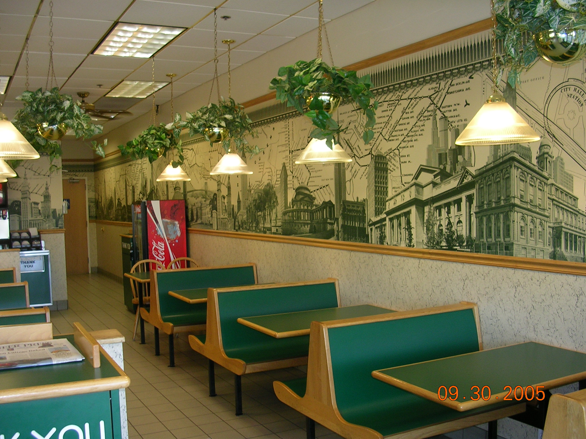 Subway Wallpaper Restaurant