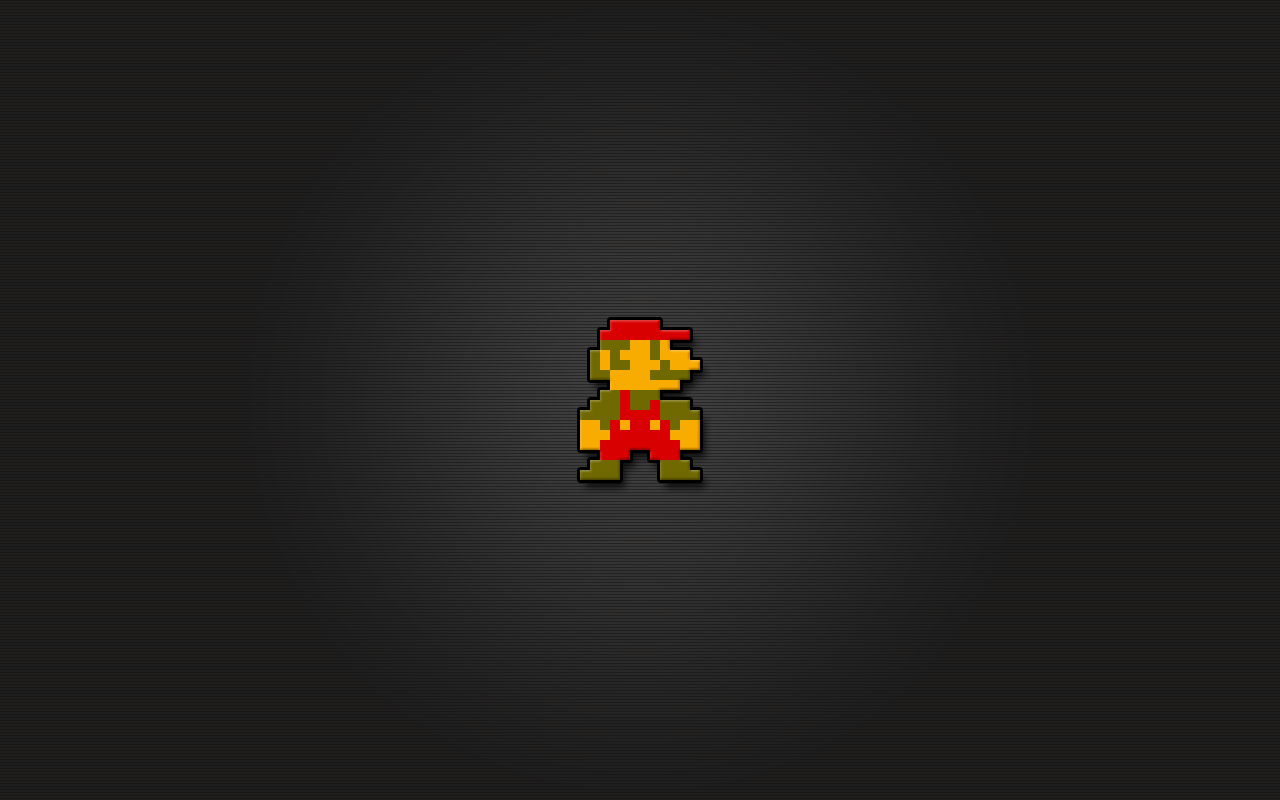 Super Mario 8 Bit Wallpaper