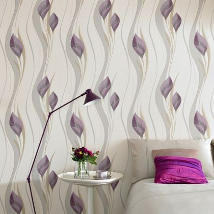Superfresco Peace Wallpaper Plum And Cream