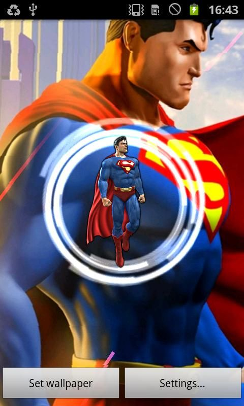 Superman Live Wallpaper