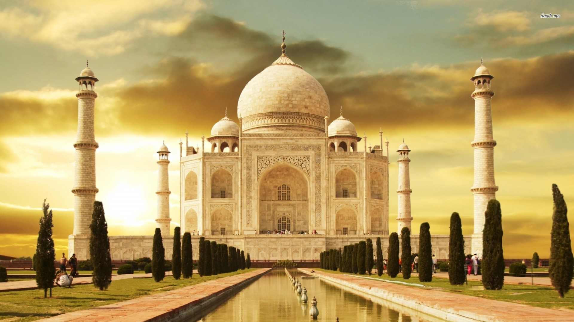 Taj Mahal At Night Wallpaper 3D
