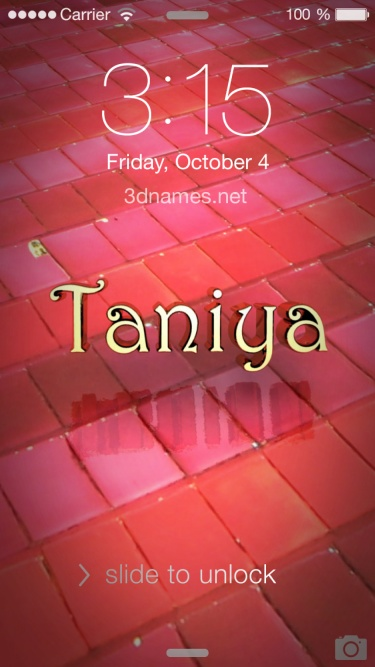 Taniya Name Wallpaper
