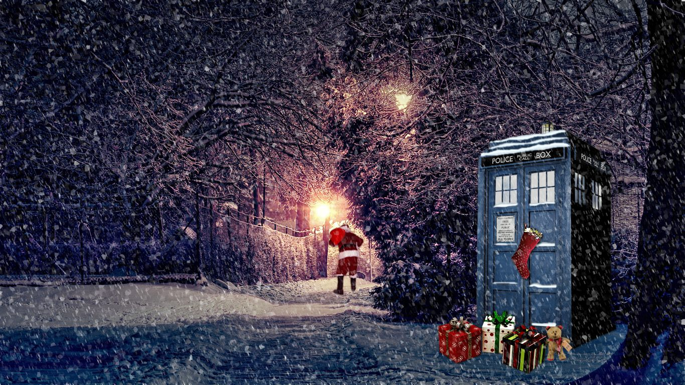 Tardis Christmas Wallpaper