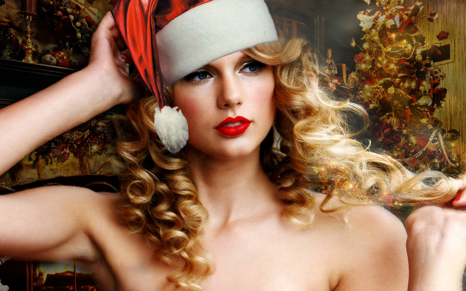 Taylor Swift Christmas Wallpaper