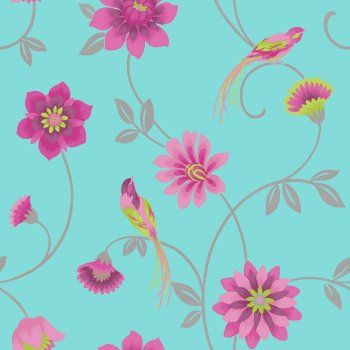 Teal And Pink Wallpaper