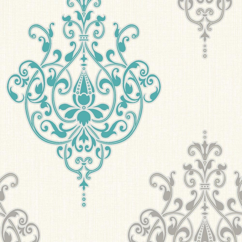 Teal And White Wallpaper