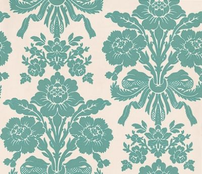 Teal Floral Wallpaper