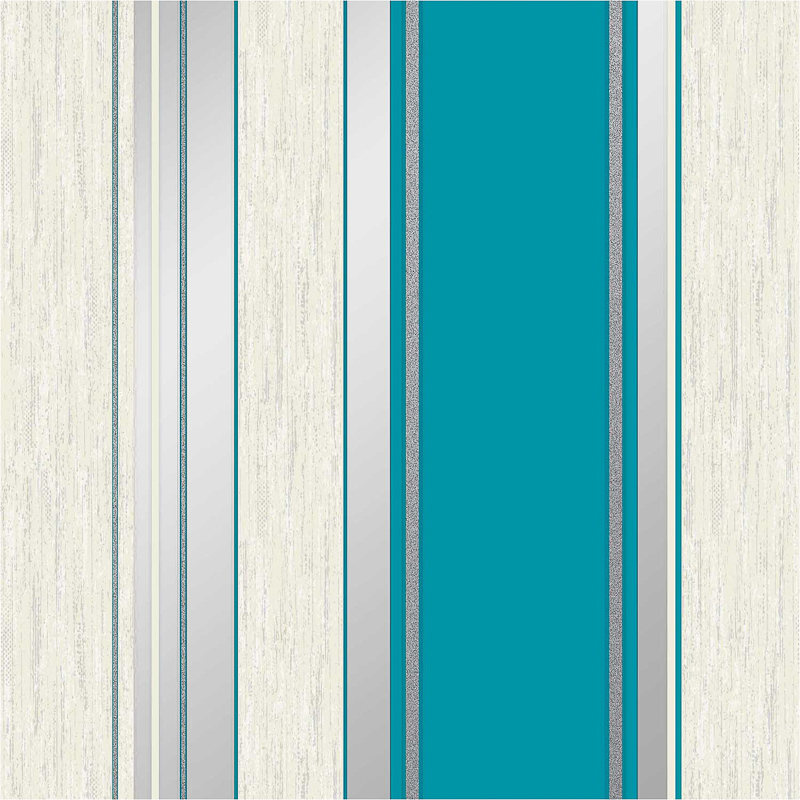 Teal Stripe Wallpaper