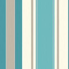 Teal Striped Wallpaper
