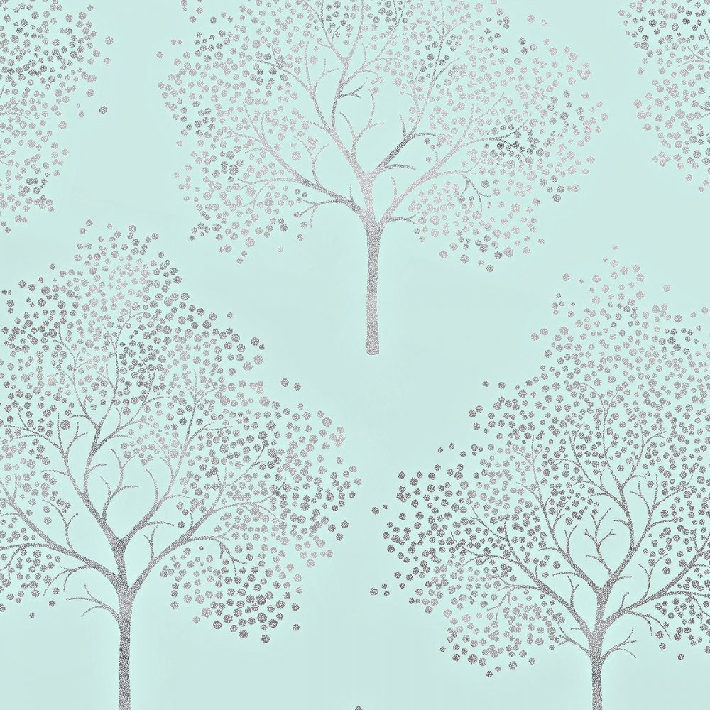 Teal Tree Wallpaper