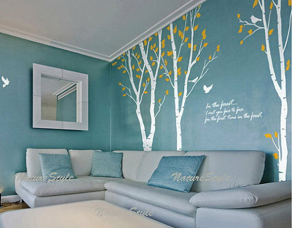 Teal Wallpaper For Living Room Part 51