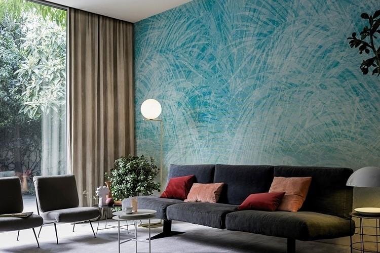 Download teal wallpaper for living room gallery for Teal wallpaper living room