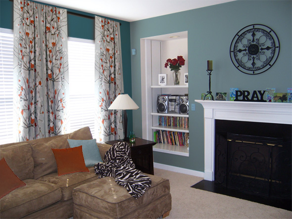 Download teal wallpaper living room gallery for Teal wallpaper living room