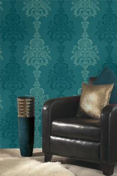 High Quality Teal Wallpaper Living Room Part 28