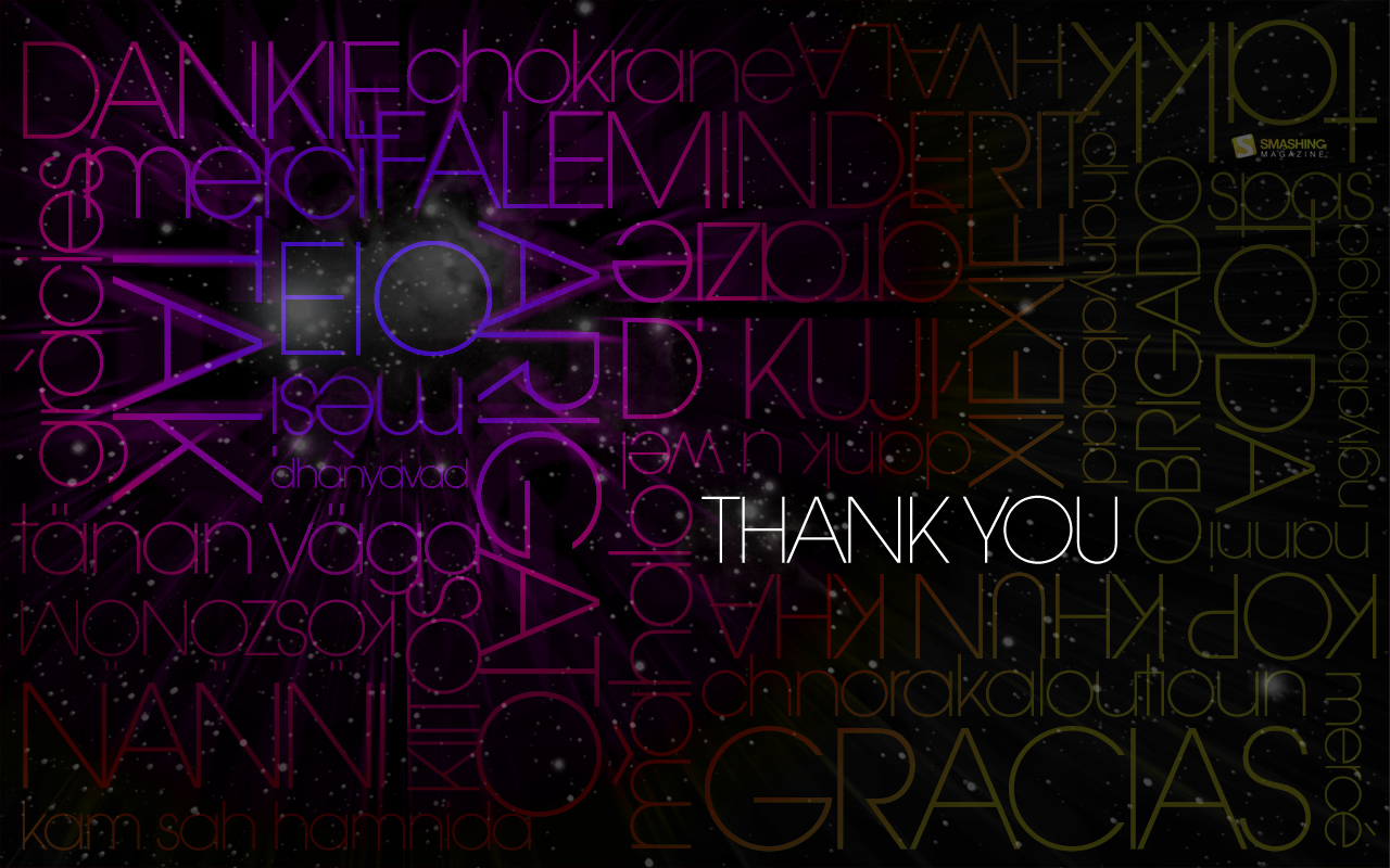 Thank You Wallpaper
