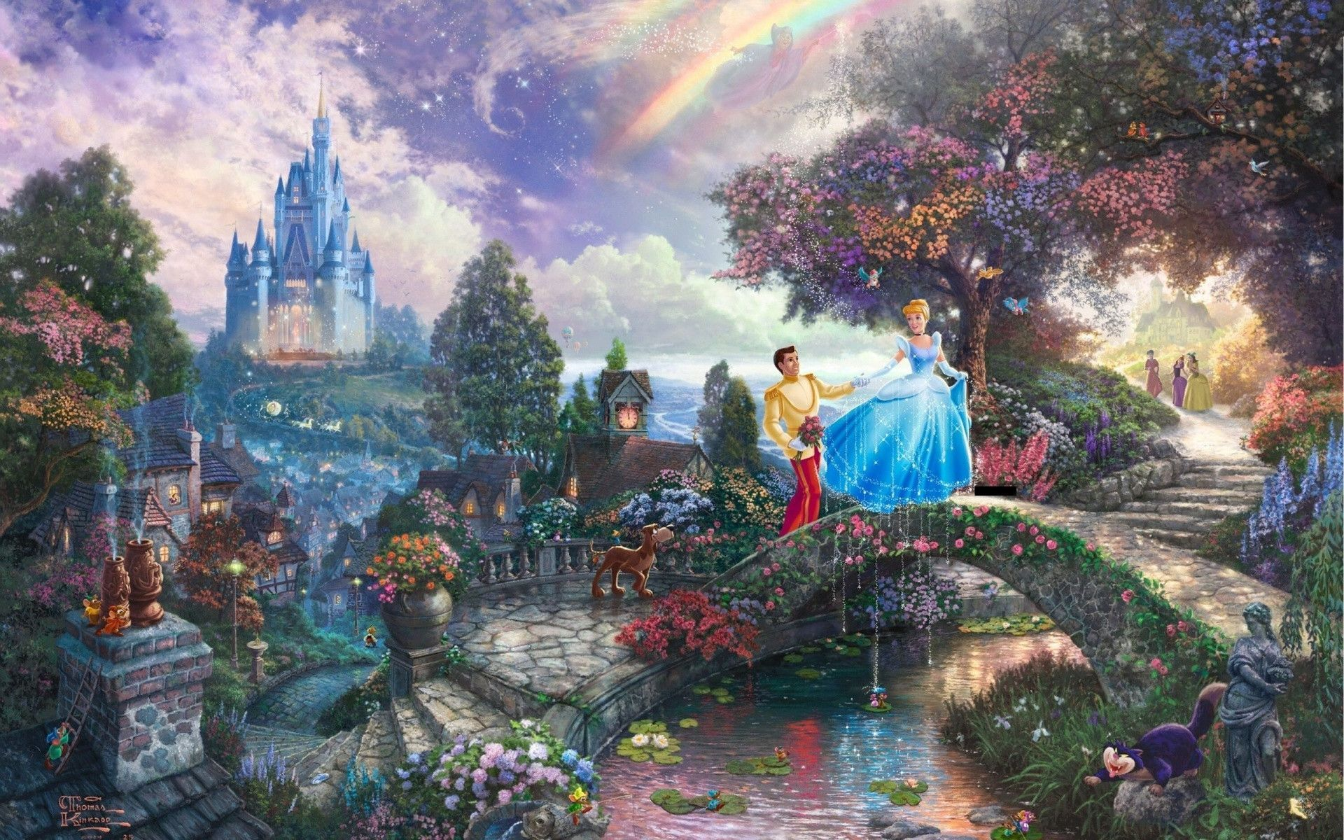 Thomas Kinkade Disney Wallpaper