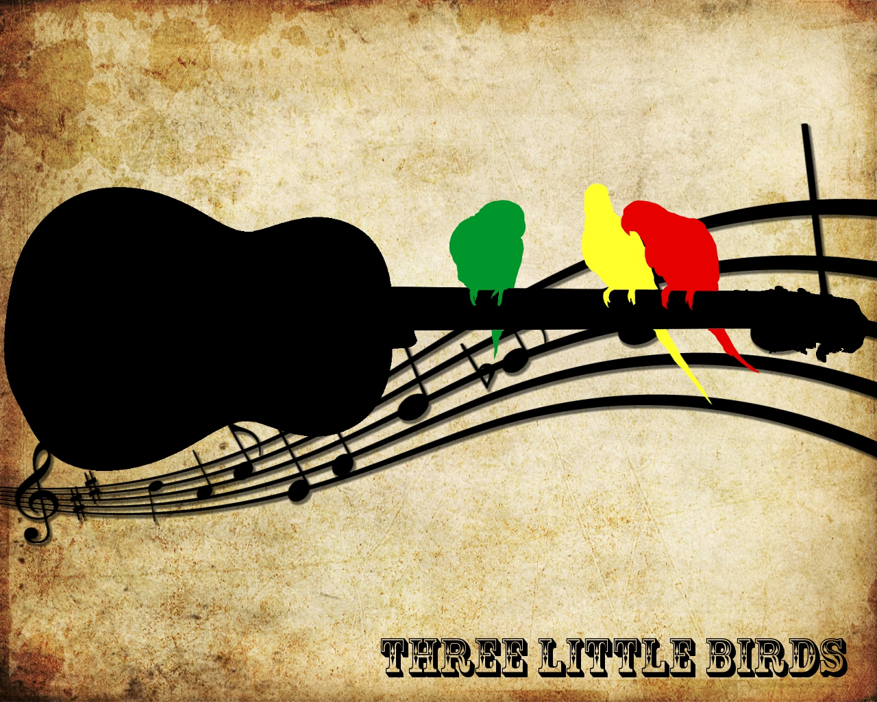 download three little birds wallpaper gallery