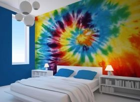 Tie Dye Room Wallpaper