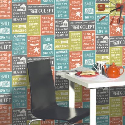 Tile On A Roll Kitchen Wallpaper