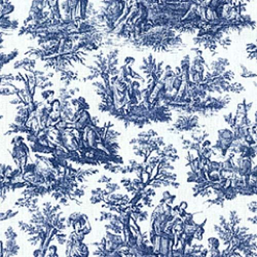download toile blue wallpaper gallery