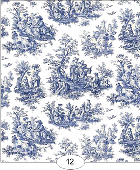 Toile Blue Wallpaper