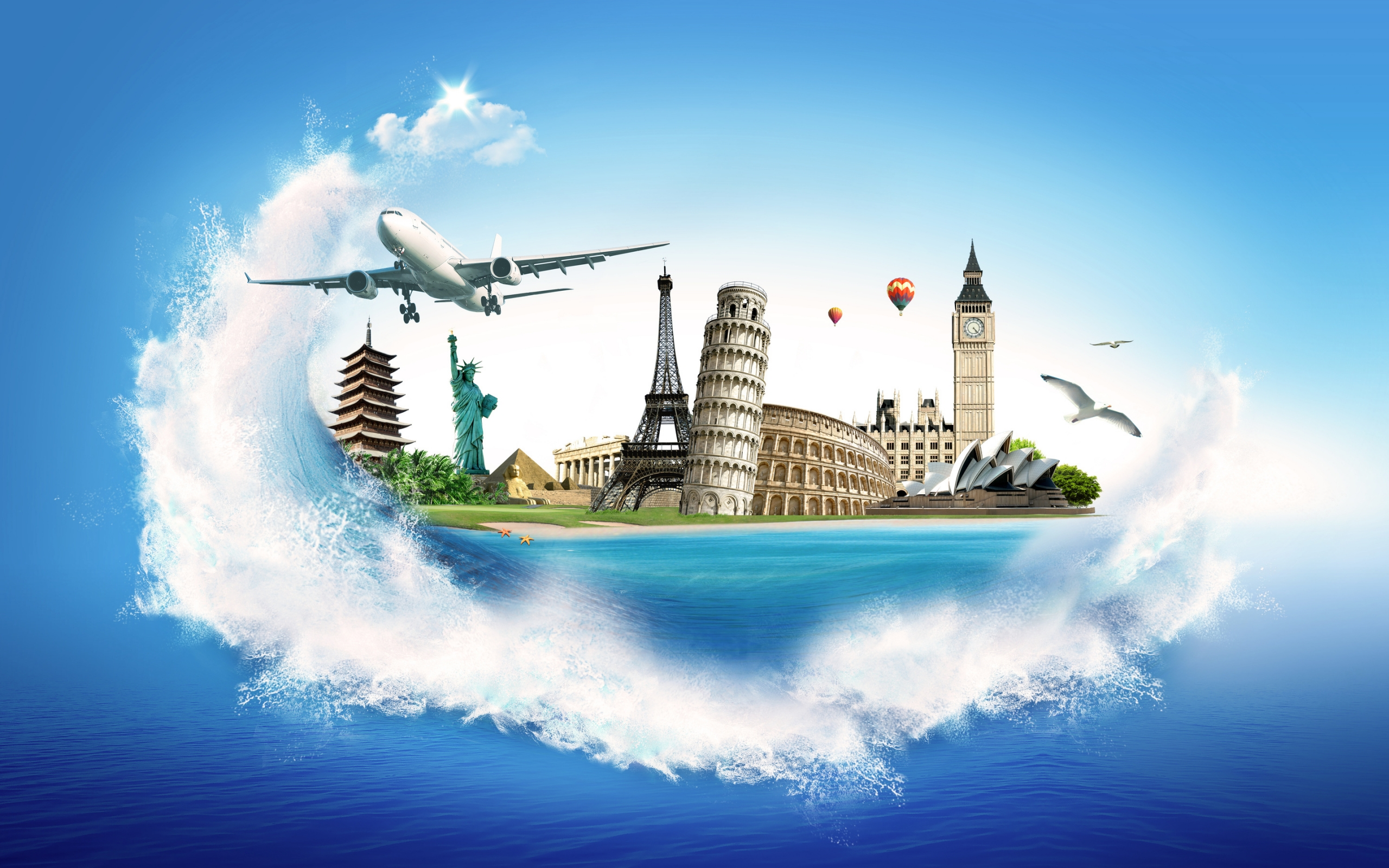 Travel Around The World Wallpaper