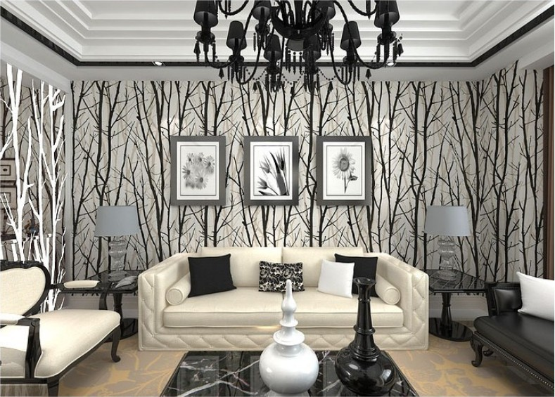 Tree Wallpaper Living Room