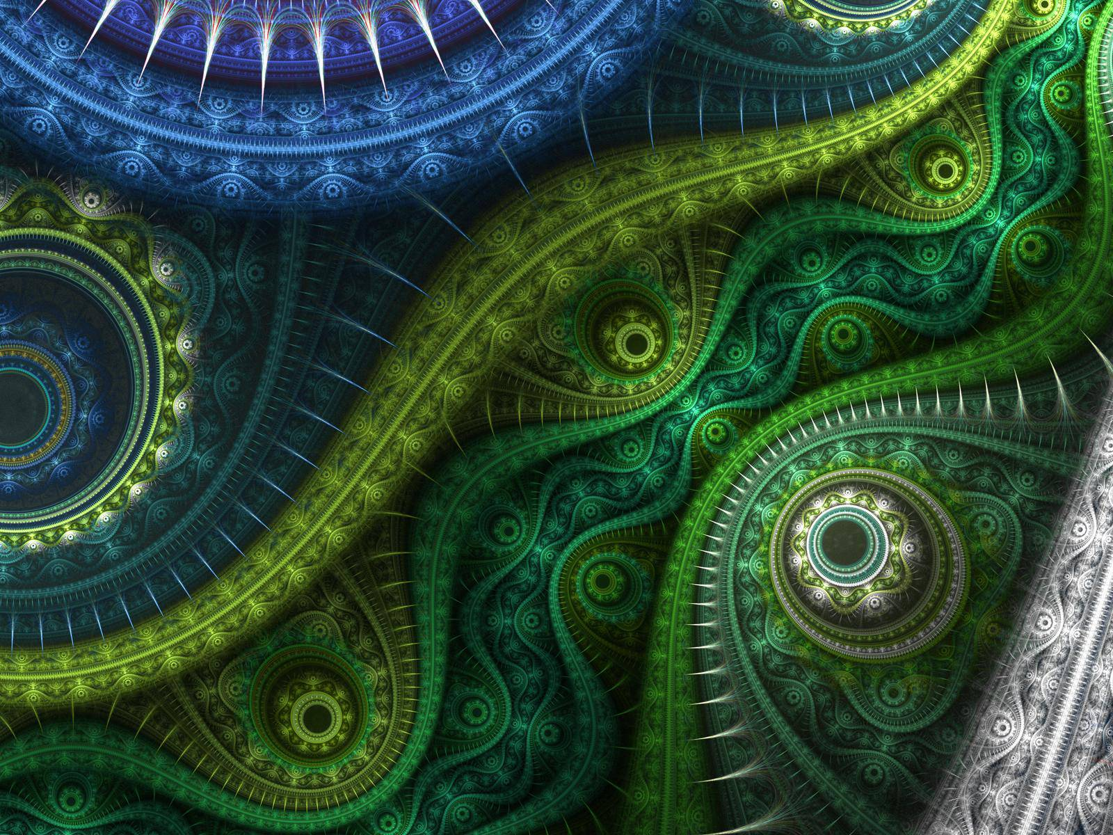 download trippy green wallpaper gallery