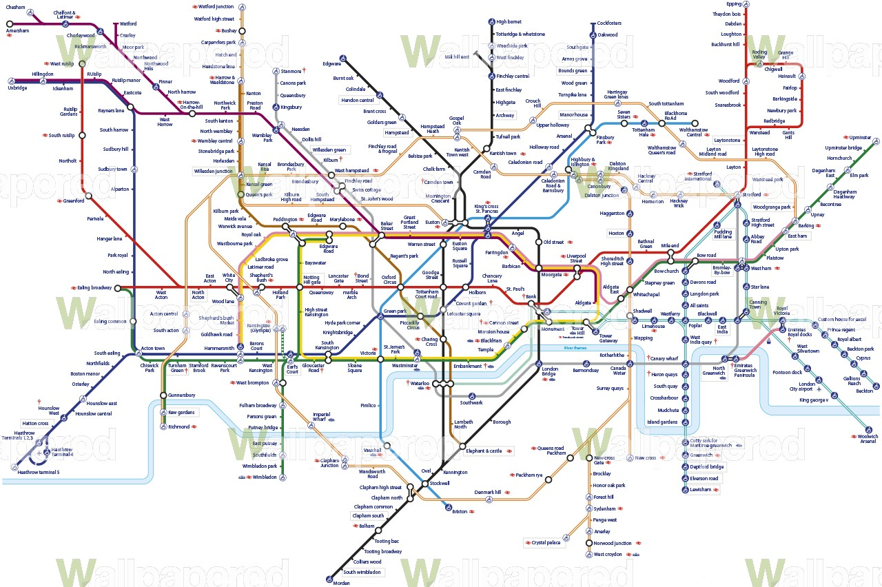 Tube Map Wallpaper