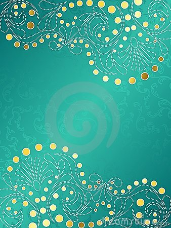 Turquoise And Gold Wallpaper