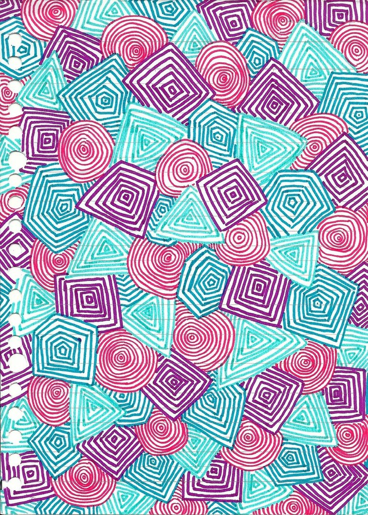 Turquoise And Pink Wallpaper