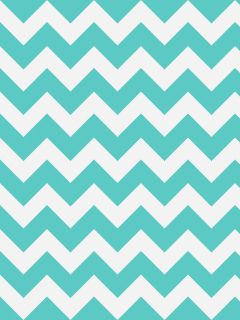 Turquoise And White Chevron Wallpaper