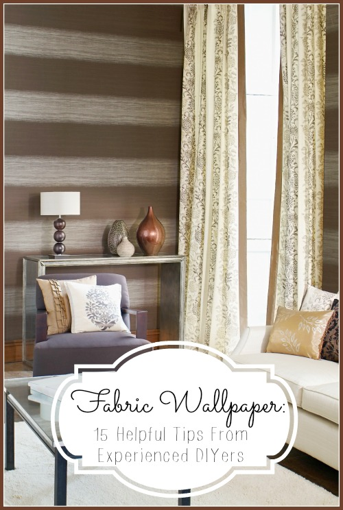 Using Fabric As Wallpaper