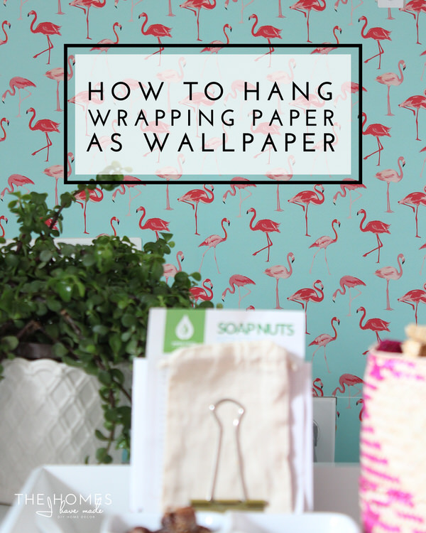 Using Wrapping Paper As Wallpaper