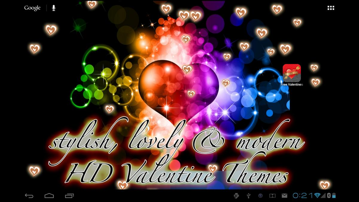 Valentine HD Golden Hearts Live Wallpaper for Android