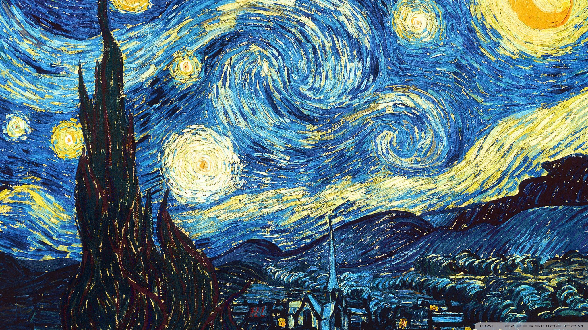 Van Gogh Starry Night Desktop Wallpaper