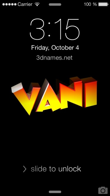 Vani Name Wallpapers