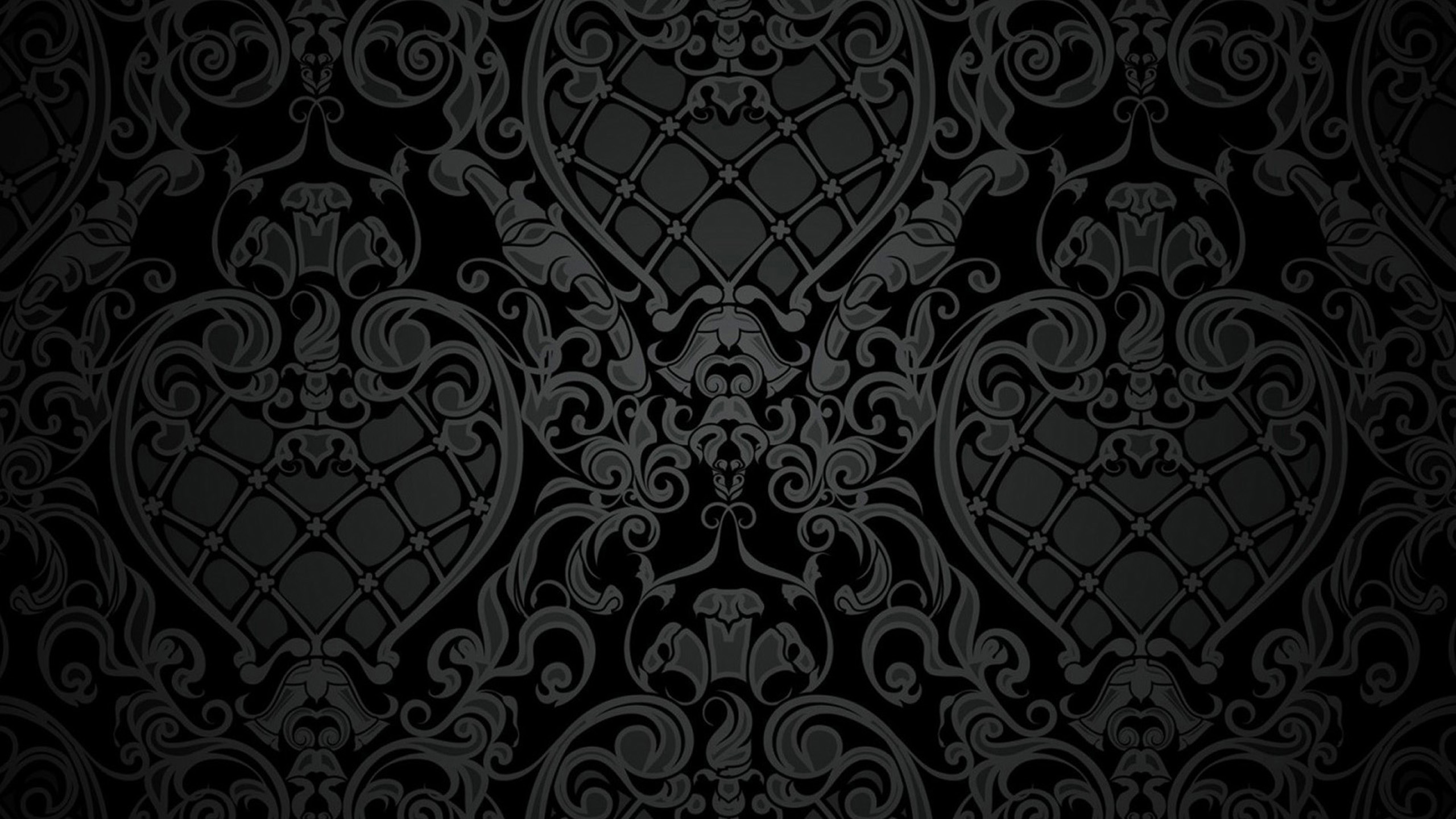 Victorian Black Wallpaper