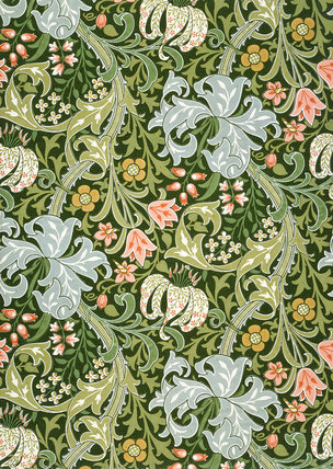 Victorian Green Wallpaper