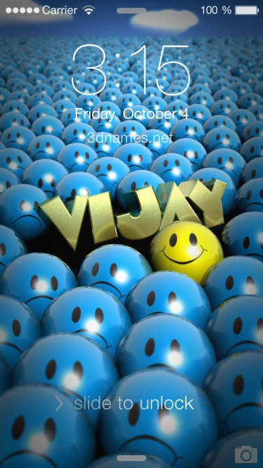 Vijay 3D Name Wallpaper