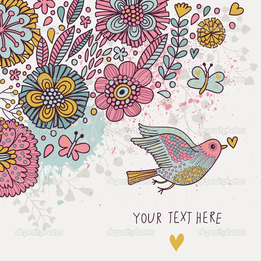 Vintage Birds Wallpaper