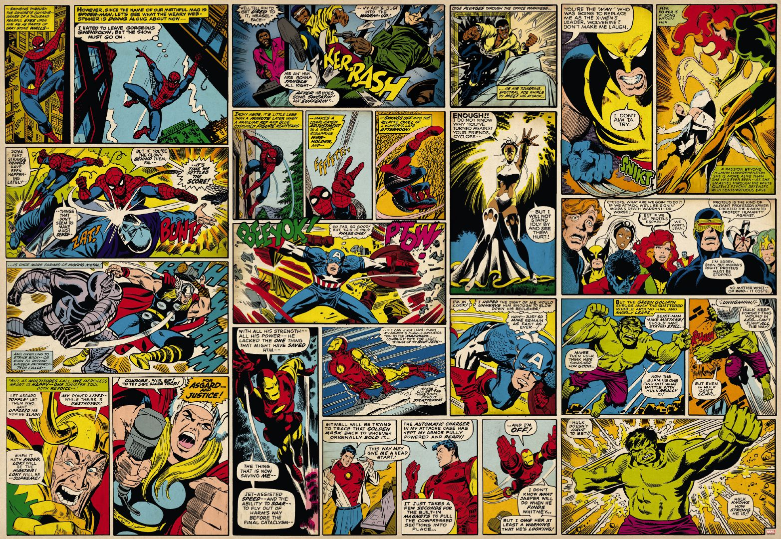 Vintage Comic Book Wallpaper