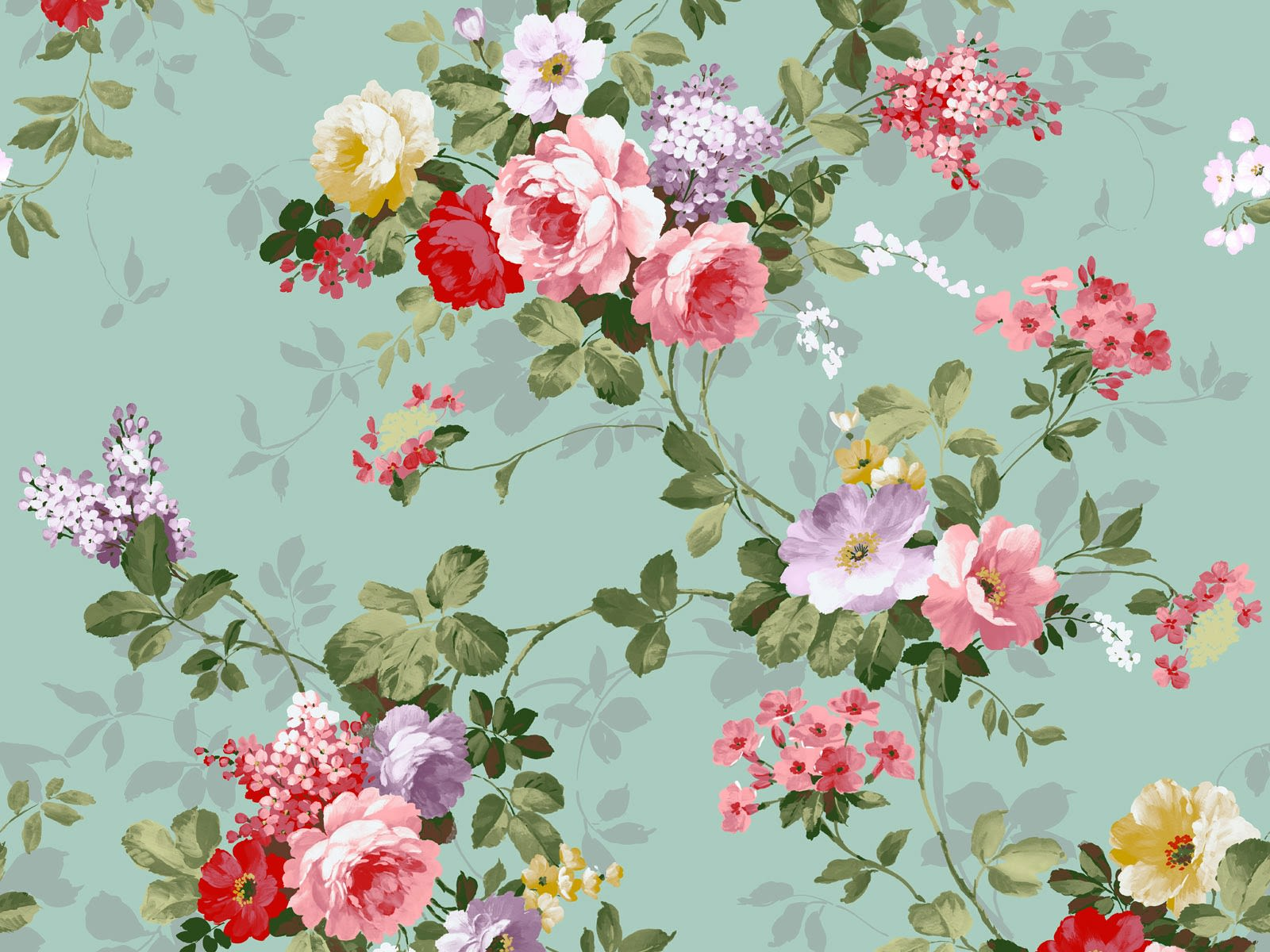 Vintage Floral Wallpapers
