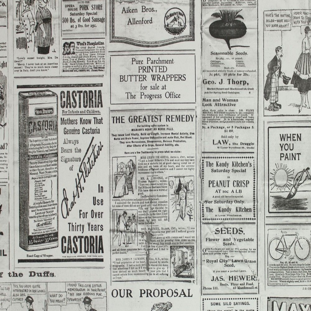 Vintage Newspaper Wallpaper