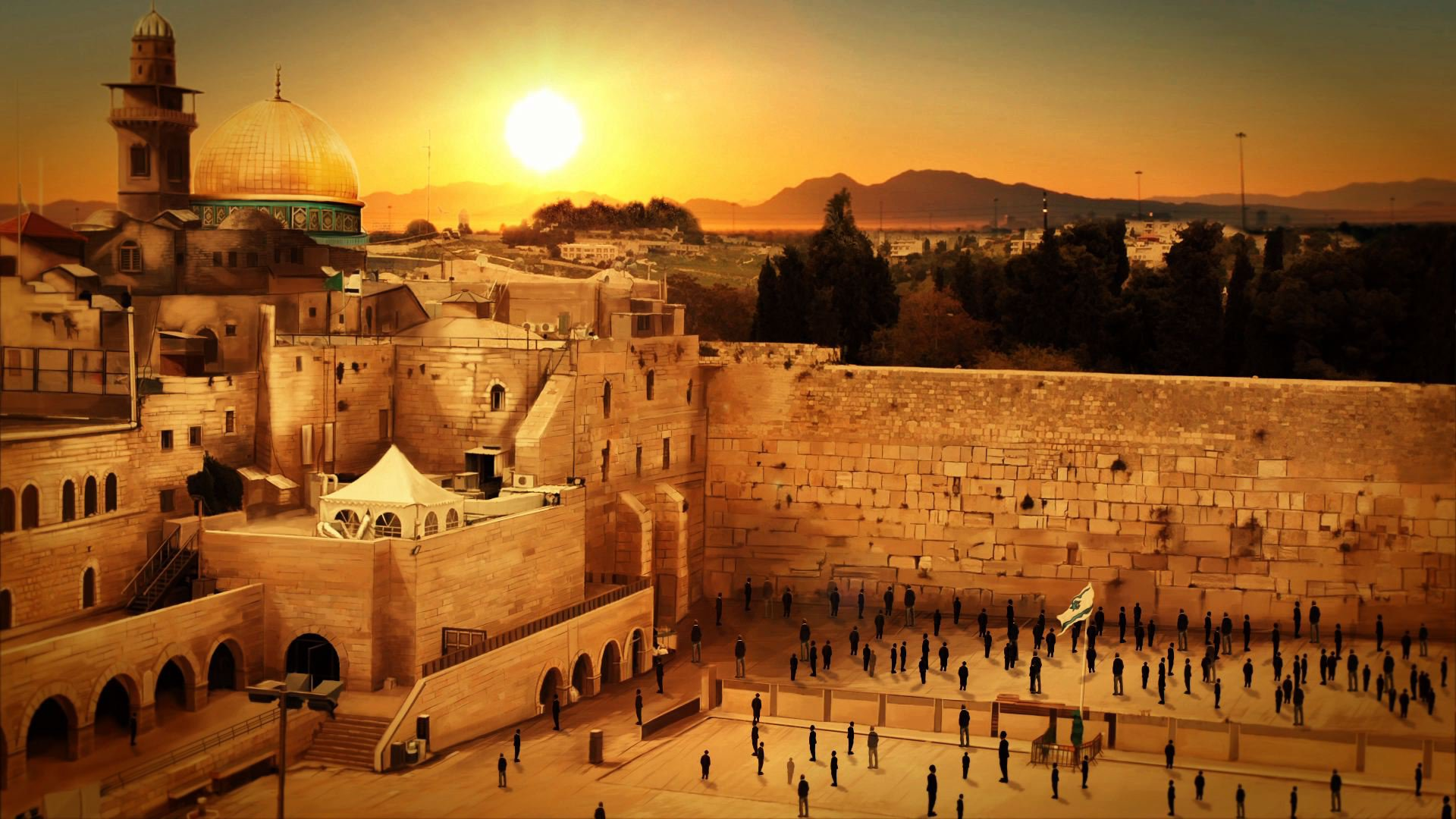 Wailing Wall Wallpaper