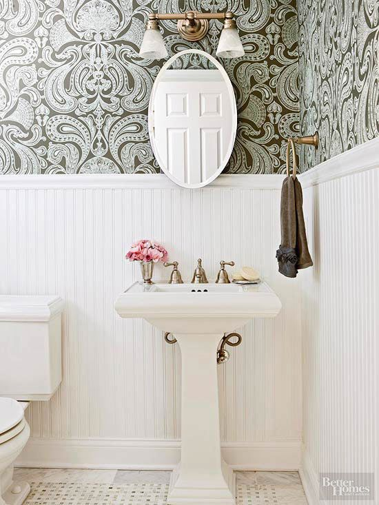 Wainscoting Wallpaper Ideas